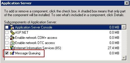 Application-Server-Message-Queuing