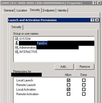 Launch-activation-permission