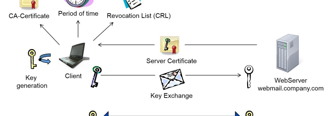 Public Key Infrastructure: Basics about digital certificates (HTTPS, SSL)