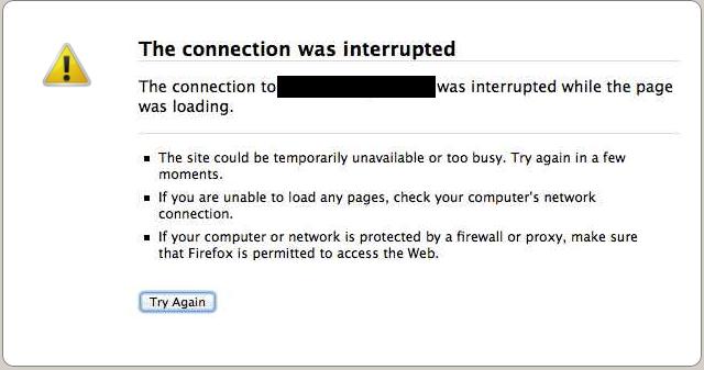 connection failed