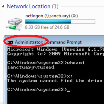 Mapped drives are not available in Windows Explorer - Active