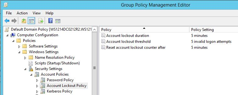 AccountLockoutPolicy