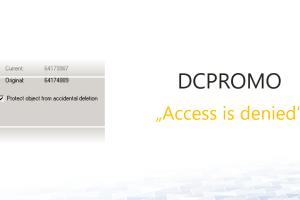 DCPROMO: Domain Controller promotion fails
