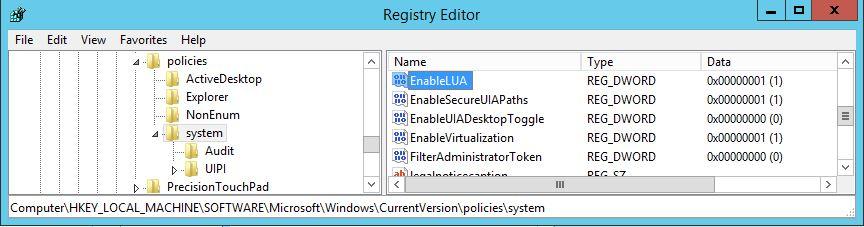 UAC-registry