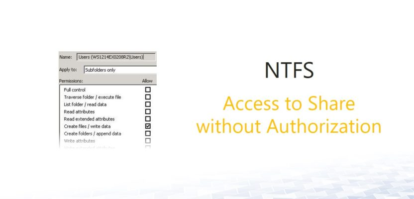 NTFS: Users can see folders without