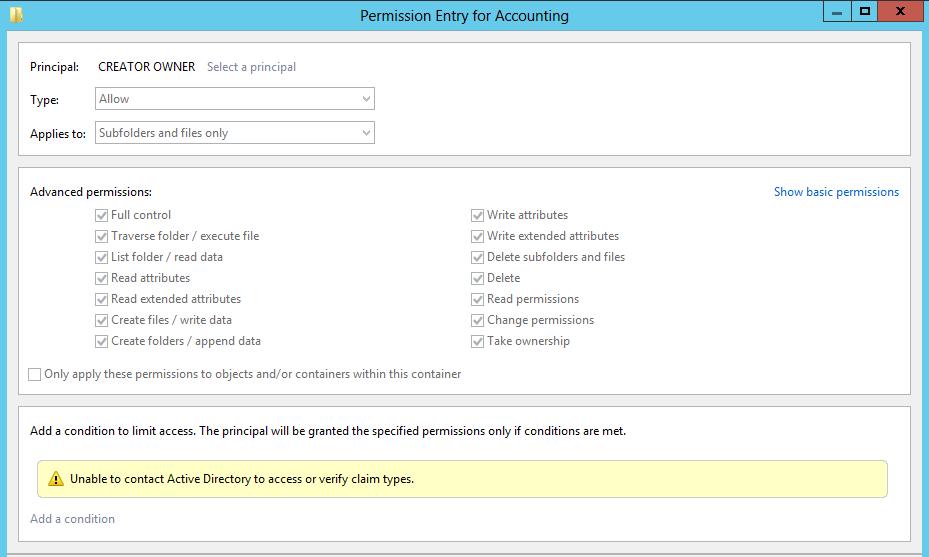NFTS - Creator Owner permissions I Active Directory FAQ