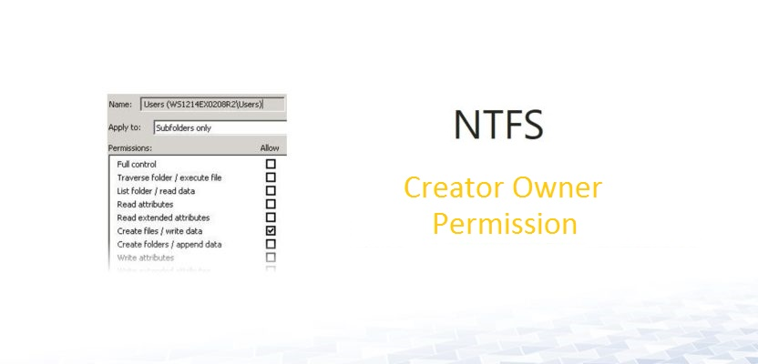 NFTS - Creator Owner permissions I Active Directory FAQ