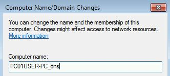 dynamic dns host entry two