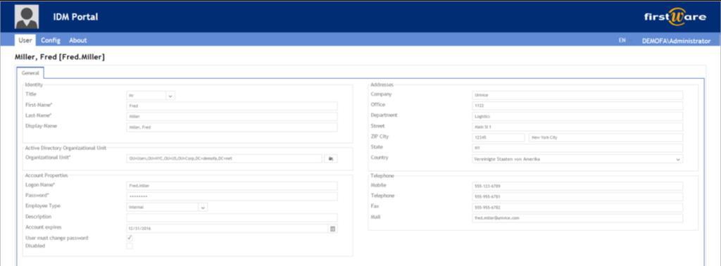 Home directory IDM-Portal